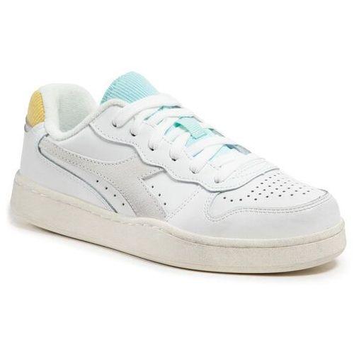 Damskie obuwie sportowe, Sneakersy DIADORA - Mi Basket Low Icona Wn 501.177079 01 C9160 White/Goldfinch/Blue Tint