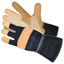 Rękawice ochronne wzmocnione skórą Ar Master RLMJgr2 Kremowy