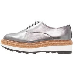 Whistles REX LACE UP Espadryle pewter
