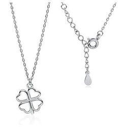 Rodowany srebrny naszyjnik gwiazd celebrytka koniczynka lucky srebro 925Z 1701N