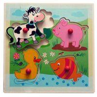 Gry dla dzieci, HESS Drewniana układanka dla dzieci Zwierzątka