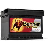 Akumulatory samochodowe, Akumulator Banner Power Bull 60Ah 540 EN PRAWY PLUS