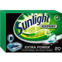 Kostki do zmywarek, Unilever SUNLIGHT Tabletki do zmywarki (668302) Darmowy odbiór w 20 miastach!