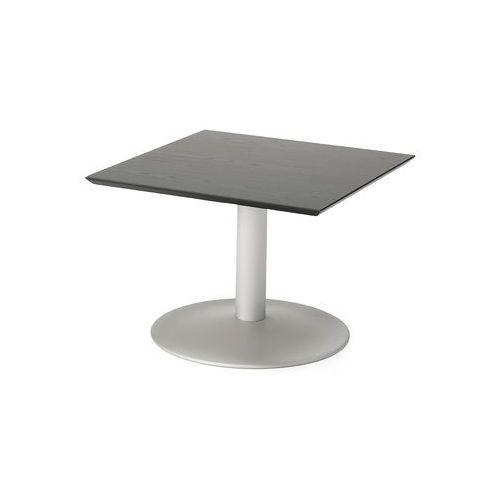 Stoliki i ławy, Stolik kawowy CROSBY 700x700x500 mm czarny aluminium