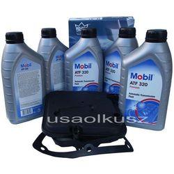 Półsyntetyczny olej MOBIL ATF320 oraz filtr oleju skrzyni biegów 4-spd Chrysler 300C -2010