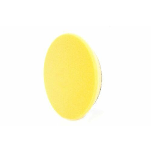 Gąbki samochodowe, RRC PRO 135mm żółta średnio twarda gąbka polerska