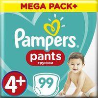 Pieluchy jednorazowe, Pampers pieluszki Pants Maxi+ rozm. 4+ (99 szt) - pieluchomajtki (9-15 kg) – Mega Box