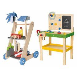 PLAYTIVE®JUNIOR Drewniany warsztat lub zestaw do sprząta