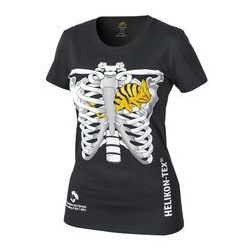 t-shirt Helikon damski kameleon w klatce piersiowej czarny (TS-WCT-CO-01)