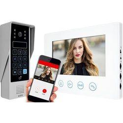 Wideodomofon IP EURA VDP-90A3 DELTA biały 7'' WiFi otwieranie 2 wejść szyfrator czytnik zbliżeniowy