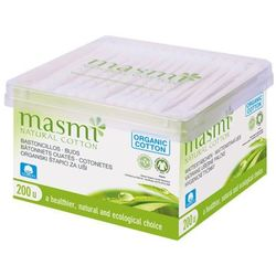 MASMI 200szt Patyczki kosmetyczne z bawełny organicznej pudełko