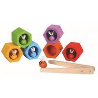 Zabawki z drewna, Plaster miodu z pszczółkami zabawka zręcznościowa, Plan Toys PLTO-4125
