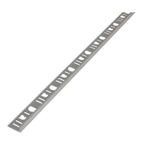 Akcesoria do płytek, Profil aluminiowy narożny Diall 8 mm typ L surowe aluminium 2,5 m