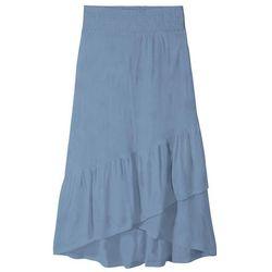 Spódnica dziewczęca z dżerseju z falbanami bonprix matowy indygo