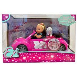 Simba Evi Love lalka w kabriolecie New Beetle piesek