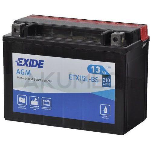 Akumulatory do motocykli, Akumulator EXIDE AGM ETX15L-BS 12V 13Ah 210A prawy+