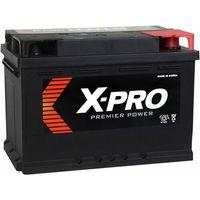 Akumulatory samochodowe, Akumulator X-PRO 71Ah 640A EN niski Prawy Plus