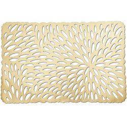 Prostokątna złota podkładka koronkowa, podkładki pod talerze, podkładki na stół nowoczesne, eleganckie podkładki na stół, ZELLER