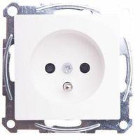 Gniazdka, Merten System M Gniazdo pojedyncze z/u 16A IP20 z ochroną styków białe MTN2600-0325