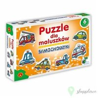 Pozostałe zabawki dla najmłodszych, Puzzle dla Maluszków - Samochodziki
