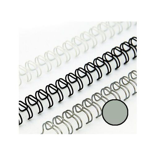 Grzbiety do bindownic, Grzbiety drutowe 14.3 mm, oprawa do 115 kartek, srebrne