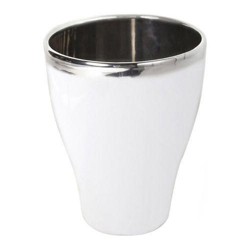 Doniczki i podstawki, Osłonka doniczki 18 cm biało-srebrna