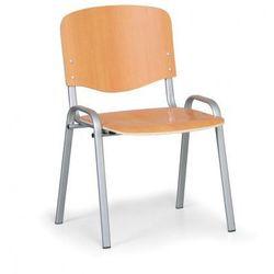 Drewniane krzesło ISO, buk, kolor konstrucji szary, nośność 150 kg