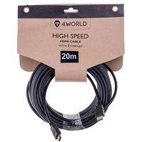 Kable video, Kabel 4WORLD HDMI z Ethernetem (v1.4), 20m