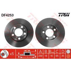 TARCZA HAM TRW DF4253 SKODA FABIA 1.2, 1.4 07-, 1.4TDI, 1.9TDI 07-/ VW POLO 1.2 07-, 1.4FSI 02-, 1.9SDI 01-