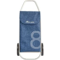 Wózek na zakupy rolser com 8 tweed niebieski