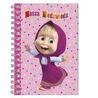Notesy, Notes spiralny A6 Masza i Niedźwiedź + zakładka do książki GRATIS