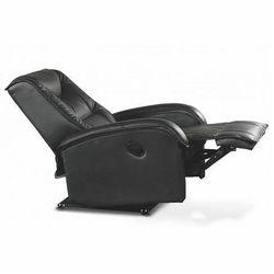 Fotel wypoczynkowy rozkładany Difter - czarny