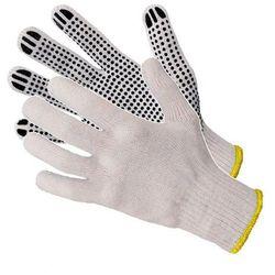 Rękawice dziane nakrapiane w różnych kolorach Art Master RND400 10 czarne