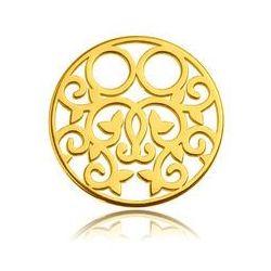 Blaszka Celebrytka Okrągła - ażurowa, złoto próba 585