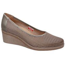 Półbuty AXEL Comfort 1818 Beżowe buty na haluksy na koturnie