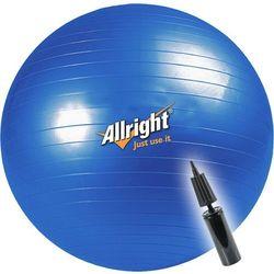Piłka gimnastyczna Allright 75cm + pompka