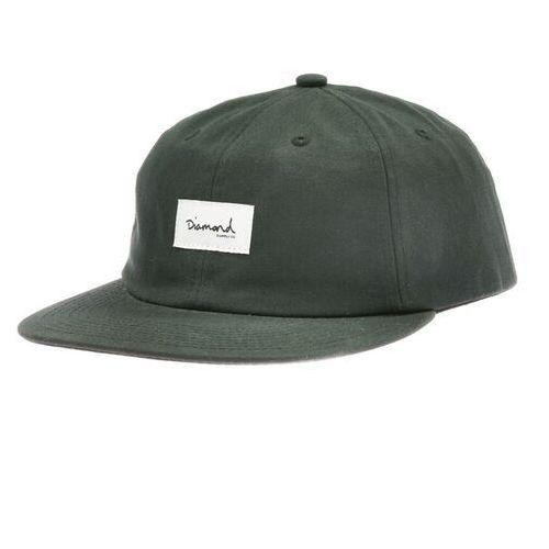 Nakrycia głowy i czapki, czapka z daszkiem DIAMOND - Og Script 6 Panel Hat - Sc Black (BLK)