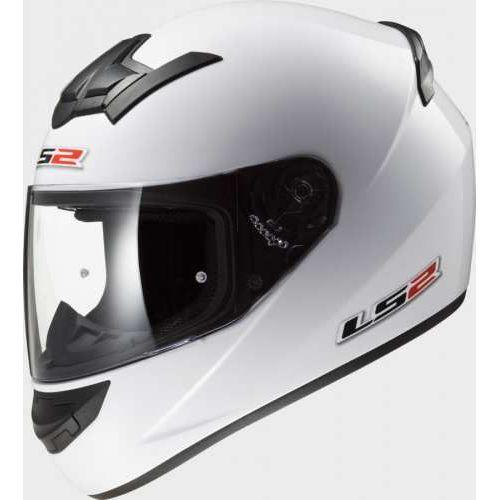 Kaski motocyklowe, Kask LS2 SINGLE ROOKIE FF352. biały-połysk / White NOWY MODEL 2!