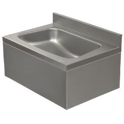 Umywalka ze stali nierdzewnej | jednokomorowa | obudowana | 500x350x(H)220mm