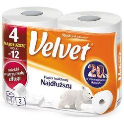 Papier toaletowy VELVET - najdłuższy op.4szt