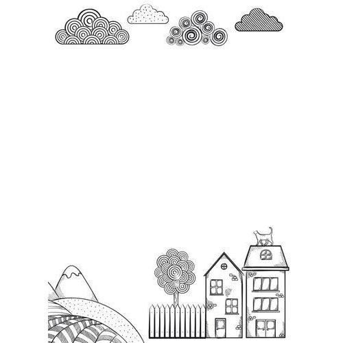 Tablice szkolne, Tablica magnetyczna suchościeralna dla dzieci domki 494