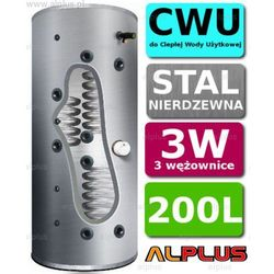 Bojler JOULE CYCLONE 200L 3-wężownice 3W nierdzewka wymiennik podgrzewacz CWU. Wysyłka GRATIS!