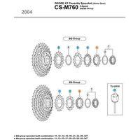 Pozostałe części rowerowe, Shimano Koronka kasety 11z CSM770/760 z pierścieniem ostatnia shimano cz5 (-27%)