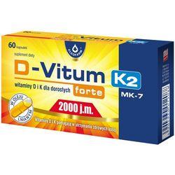 D-Vitum forte 2000 j.m. K2 MK7 witamina K i D dla dorosłych 60 kaps