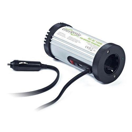 Przetwornice samochodowe, Energenie by Gembird Przetwornica 150W