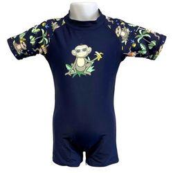Strój kąpielowy kombinezon dzieci 68cm filtr UV50+ - Navy Jungle \ 68cm