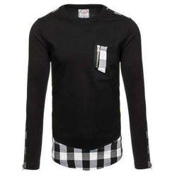 Bluza męska bez kaptura czarna Denley 0758
