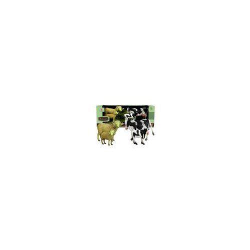 Figurki i postacie, Zestaw Figurek Zwierzęta Baranek Krowa 4 Figurki - Lean Toys DARMOWA DOSTAWA KIOSK RUCHU