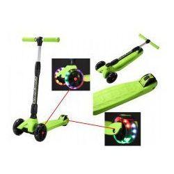 Składana hulajnoga 3 koła Kickcruiser Bike Star zielona LED