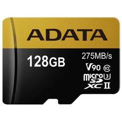 Karta MicroSD ADATA Adata microSDXC 128GB Class 10 read/write 275/155MBps - AUSDX128GUII3CL10-CA1 Darmowy odbiór w 20 miastach!